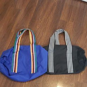 Bloomingdale's set of 2 canvas duffle bags